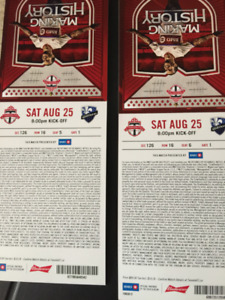 tfc tickets Sat August 25th