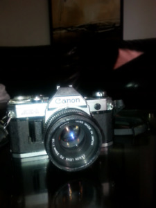 Canon AE - I Film camera with canon Lens FD 50mm 1:1.8  35mm SLR