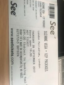 Suzanne Vega VIP ticket