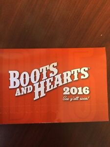 2 tickets to Boots & Hearts general admission.