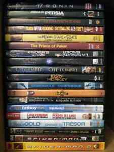 58 dvd movies, drama, sci-fi, action, animated,  comedy, etc