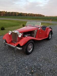 MG TD 1953 moteur V8
