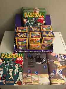 1996 Baseball 1200 Sealed Sticker Packs. + 122 Sticker Books