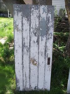 Antique Rustic Bead Board Wooden Door