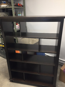 wooded display cabinet book shelf shelving unit