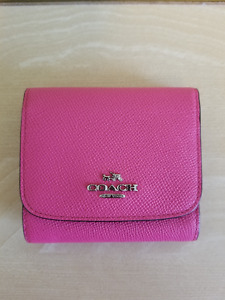 AUTHENTIC COACH PINK SMALL CROSSGRAIN WALLET - BEST OFFER