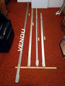 3 Rails pour store verticaux