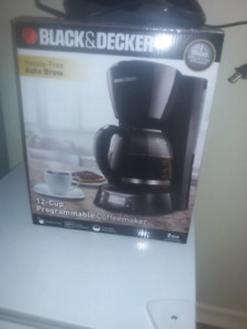 Black and Decker coffee maker; new in box