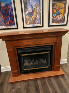 Electric fireplace -Winters coming
