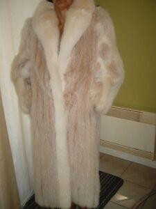 Manteau fourrure renard roux