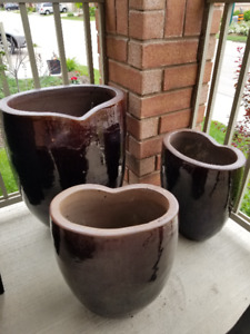 Ceramic Planters Set of 3