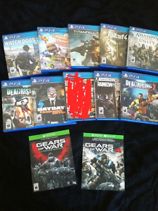 LOOKING TO TRADE PS4 GAMES FOR XBOXONE GAMES