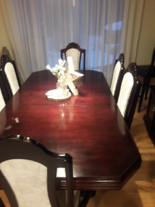 Solid Cherry Dining Table and Chairs