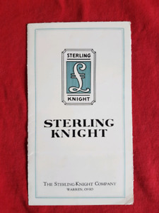1923 1924 1925 STERLING KNIGHT Vintage Antique Sales Brochure