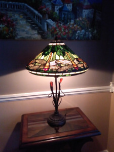 Bombay dragonfly tiffany glass lampe lamp