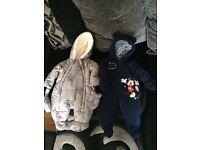 2x baby snowsuits