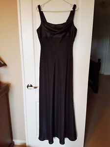 Black Evening Gown with Shoulder Detail