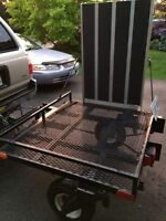 Double Hitch Swivel Wheeled Utility Trailer - Must sell!