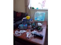 Biorb White 15 l fish tank aquarium & total starter set up + extras