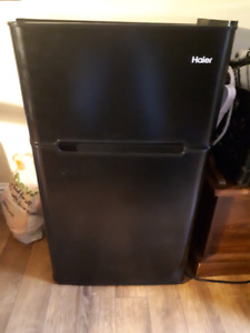 Haier Black Mini Fridge with Freezer