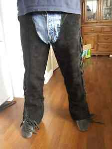 Leather western chaps