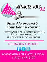 NETTOYAGE APRÈS RÉNOVATION / CONSTRUCTION