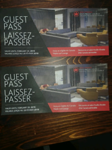 MAPLE LEAF LOUNGE GUEST PASS X 2