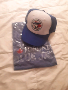 Blue Jays hat and shirt.  New.