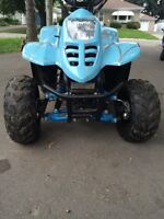 ** 2015 BRAND NEW BLUE CAMO 110cc 4 Wheeler** 2 months old!