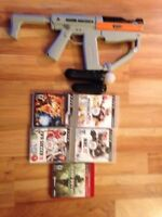 PS move controllers with Gun and PS3 games