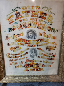 Framed and cross stitched bible verse
