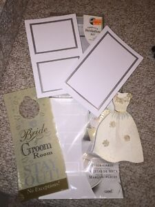 Wedding lot invitations place cards