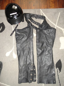 XL Black Leather Motorcycle Pants Excellent Used Condition!