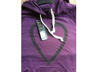 Purple Hoodie with heart design new with tags sizes available