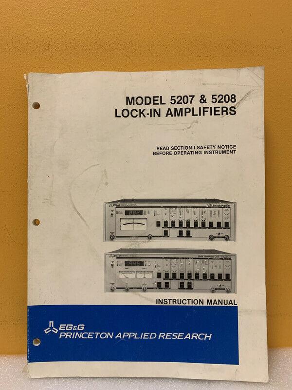 EG&G M5207/8;3/86;1M;B&R Model 5207 & 5208 Lock-In Amplifiers Instruction Manual