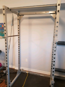 Fit works Squat Rack with or without weights and bar