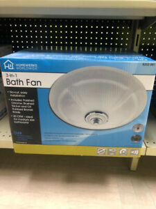 Fan with LED Light for your bathroom…30% OFF
