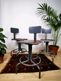 Industrial machinist swivel stool / factory chair