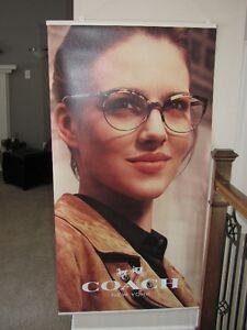 Bannière publicitaire Coach pour lunette Ad banner Coach eyewear