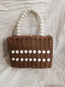 Vintage Purse:  Wood and Beads