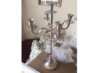 5 candle wedding table candelabra