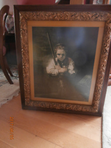 Victorian frame with print