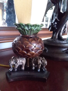 Elephant table lamp lampe tropical Bombay