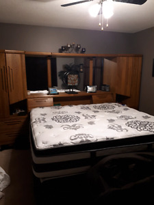 King size mattress and headboard for sale