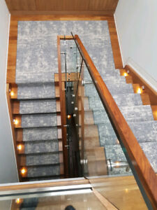 BOX RUNNER STAIRS WITH CARPETu0026PADS INSTALL ONLY 300.00
