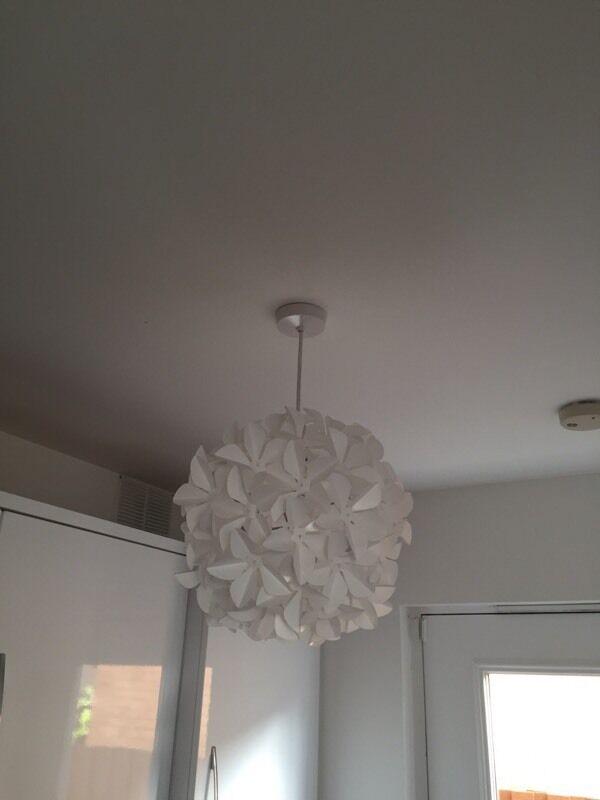 3 White Flower Ceiling Light Shades