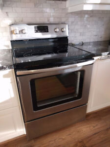 range stove ceramic cooktop stainless steel