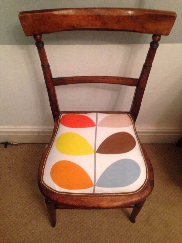Edwardian Chair Upholstered In Orla Kiely Fabric