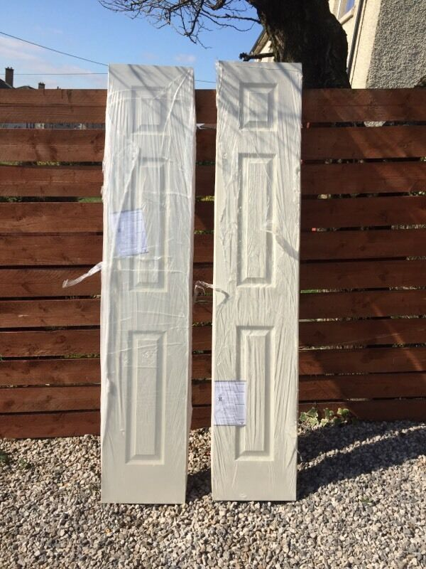 White primed 3 panel narrow door. 2 available. 78 X 15 inch 1981 X & White primed 3 panel narrow door. 2 available. 78 X 15 inch 1981 X ...