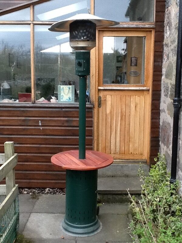 Outback Gas Patio Heater With Built In Table And Cover